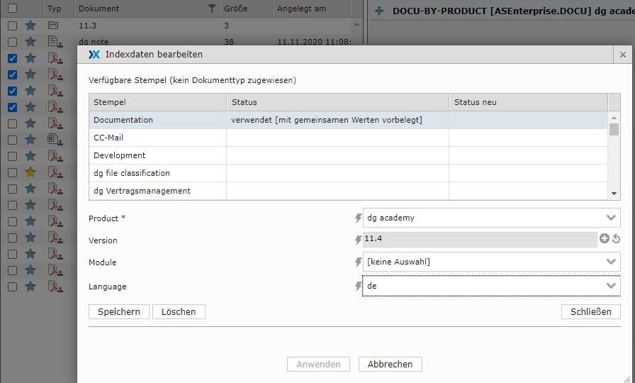 dataglobal CS Webclient Massendatenänderung