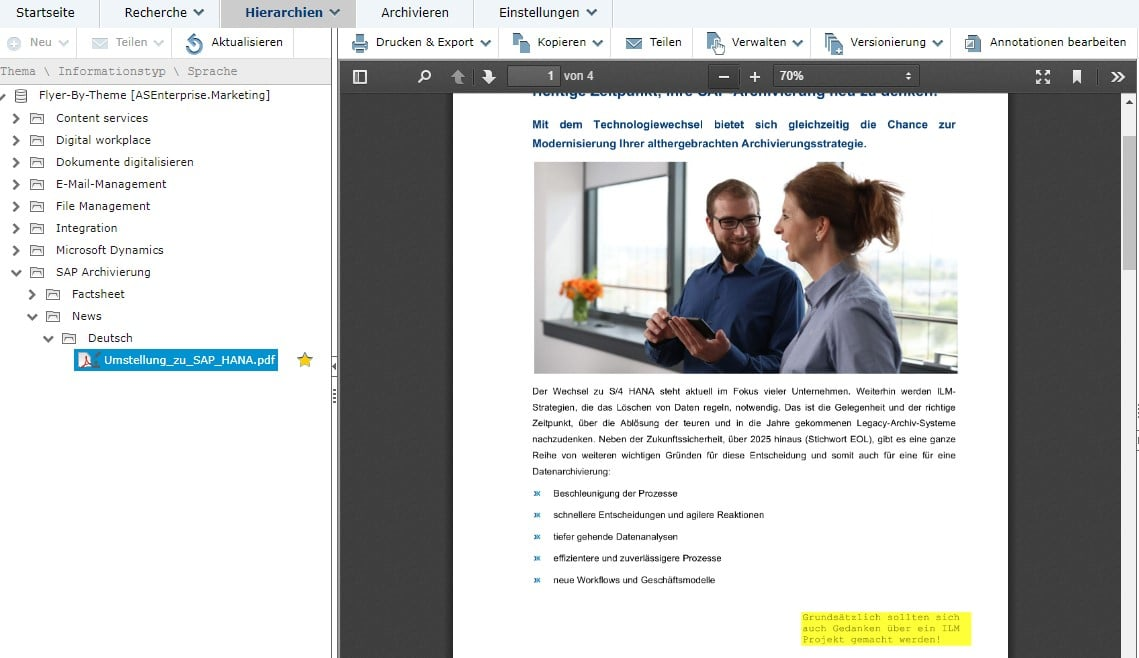 dataglobal CS Webclient Annotationen